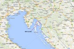 Krk Island location